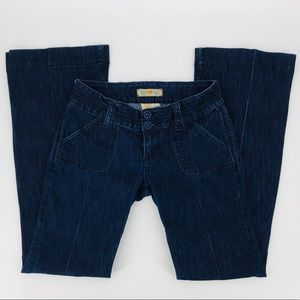 Cute YMI jeans with cloth covered buttons